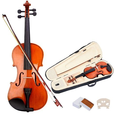 Biola Violin 1 4 size 4 4 acoustic violin fiddle with bow