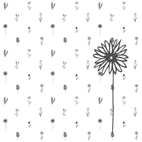 doodle craft paper flowers free digital tiny flower doodle scrapbooking embellishment