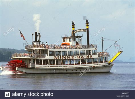 paddle boats pictures paddle wheel steam boat on lake george new york stock