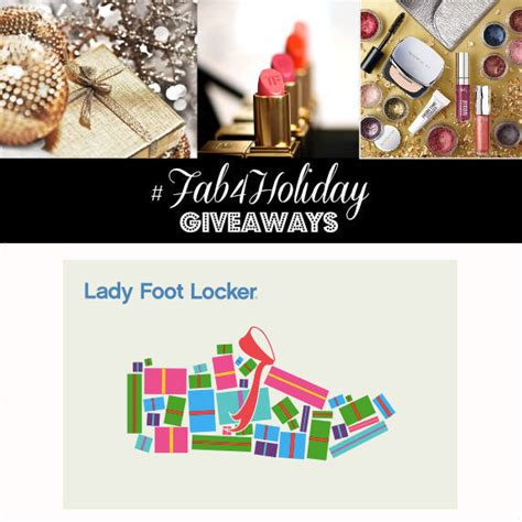 Foot Locker Gift Card Giveaway - fab4holiday giveaway day 20 1 of 4 100 lady foot locker gift cards glamazons blog