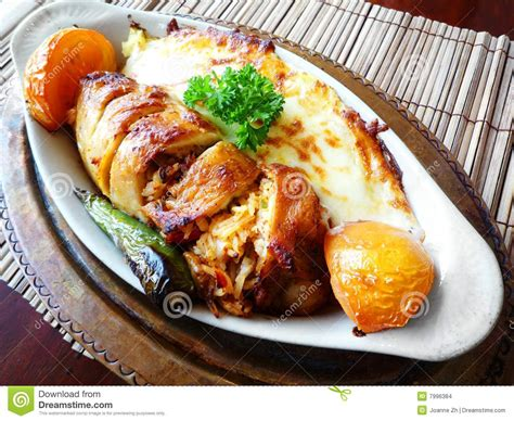 chicken course dishes turkish chicken dish stock images image 7996384