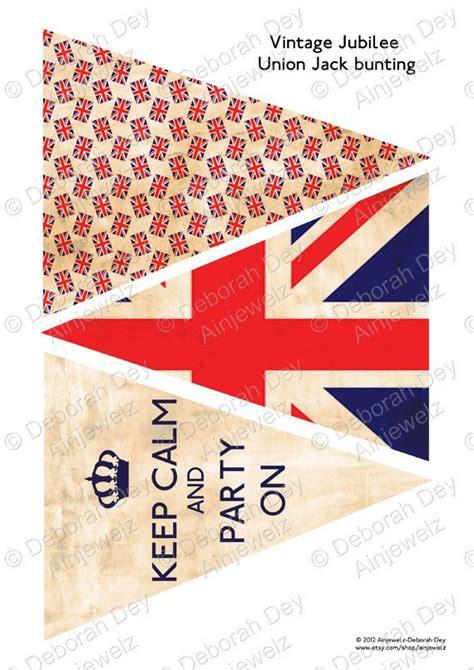 printable union jack bookmarks british bunting download vintage union jack keep calm