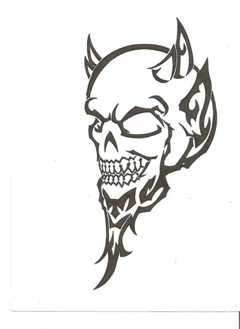 demon tribal tattoos images for tatouage