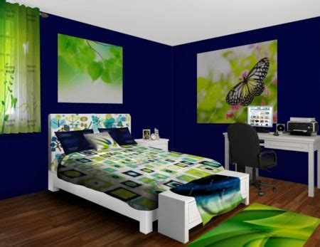 navy and lime green spritz bedroom home decor pinterest