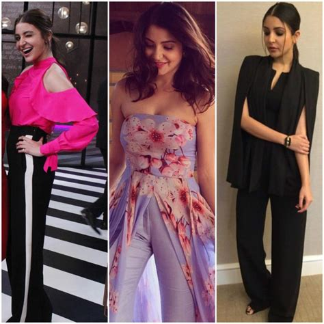 celebrity pink dress pants pants party anushka sharma shows us how to nail party