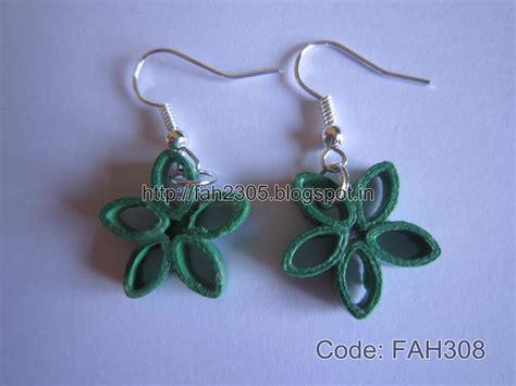 paper quilled flower earrings tutorial fah creations paper quilling simple flower earrings