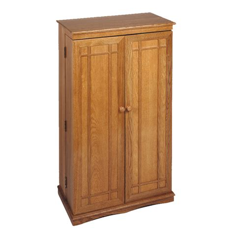 leslie dame mission style multimedia cabinet oak cd 612oak