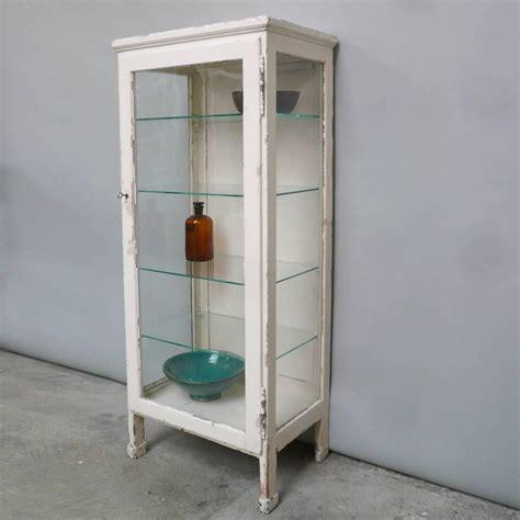 glass medicine cabinet vintage hungarian wood and glass medicine cabinet 1930s at 1stdibs