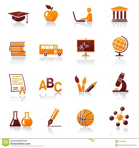 coloring school icons royalty free stock photos image education and school icons stock vector image of