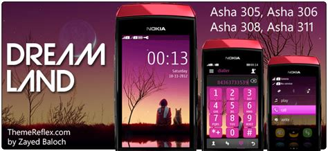 themes in nokia asha 305 dream land theme for nokia asha 305 asha 306 asha 308