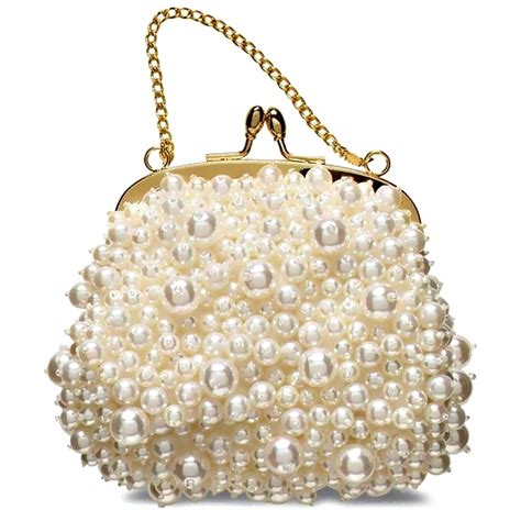 Purses Not Seen As A Clutch Performer by Banana Republic Pearl Beaded Clutch Purse Ivory