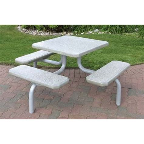square concrete picnic table 42 in concrete powder coated