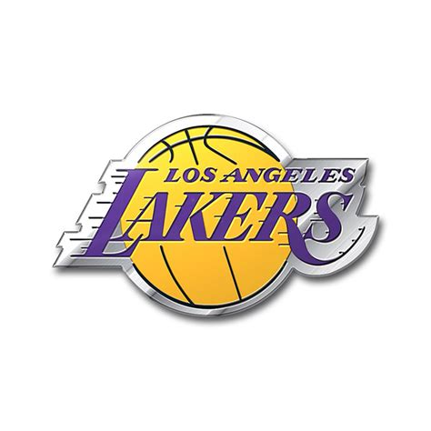 lakers colors los angeles lakers color emblem car or truck decal team