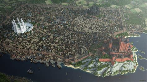 king s landing of thrones landing in minecraft 3 years later