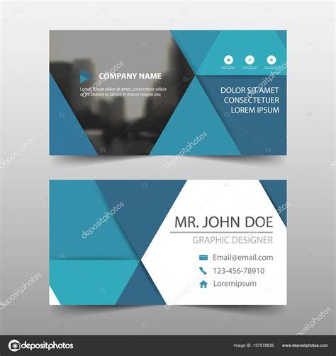 horizontal layout web design carte de visite entreprise triangle bleu mod 232 le carte du