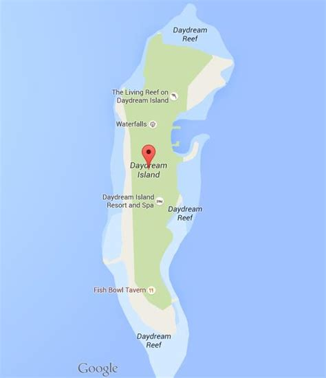 Most Beautiful Places In The World by Map Of Daydream Island World Easy Guides