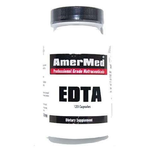 Amermed Nature S Detox by Edta 800mg 120 Capsules Calcium Disodium Edta Amermed