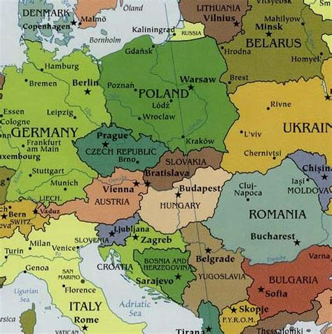 map of central europe maps of europe countries central europe map regions