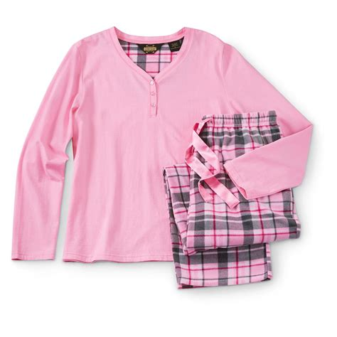 plaid pajamas guide gear s plaid pajama set 640639 sleepwear pajamas at sportsman s guide