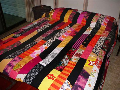 Patchwork Quilt from Clothing Scraps   Make: