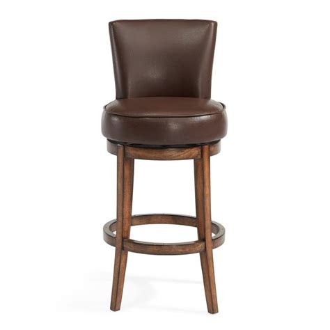 bar stools boston armen living boston 26 quot swivel counter stool in chestnut