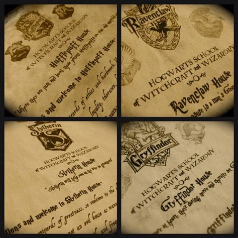Harry Potter Acceptance Letter Set The Complete Hogwarts Acceptance Letter Kit By Featheraffair House Letter Gryffindor Hufflepuff