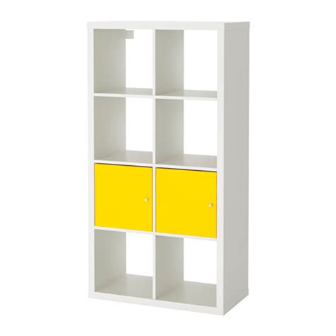 shelving units with doors kallax shelving unit with doors white yellow ikea