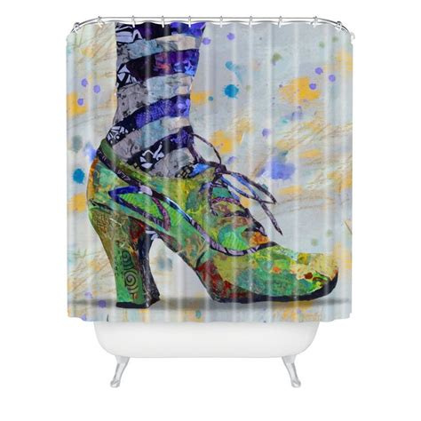 shoe shower curtain elizabeth st hilaire nelson green witch shoe study shower