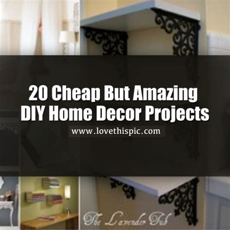 cheap home decor diy 20 cheap but amazing diy home decor projects