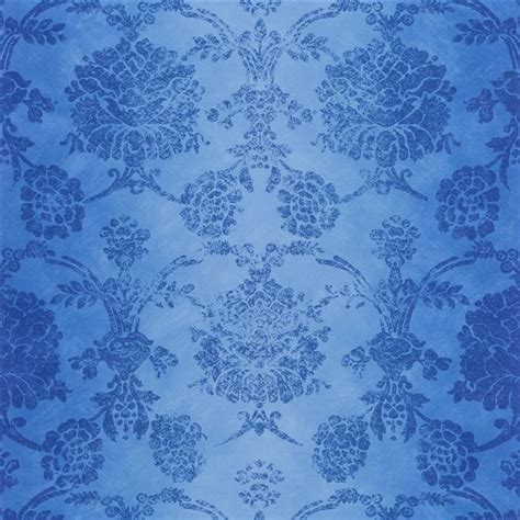 cobalt blue wallpaper uk sukumala cobalt wallpaper designers guild
