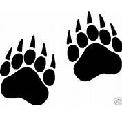 Bear Paw Prints Vinyl Decals Stickers 10 Sets Of 2  3 X 4 EBay