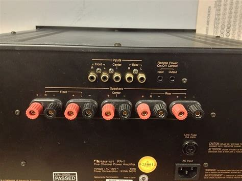 Nakamichi Power Lifier N1 nakamichi pa 1 100w 5 channel stereo power lifier reverb