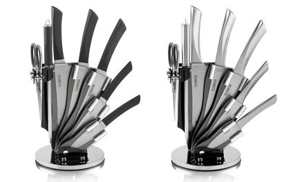 Kitchen Knife Sharpening Glasgow Tower Seven Knife Set With Stand In Choice Of Design