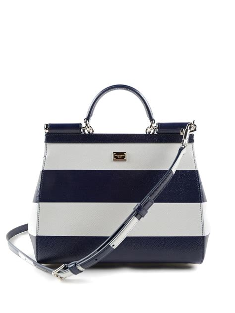 Dolce Gabbana Haircalf Tote by Sicily Striped Tote By Dolce Gabbana Totes Bags Ikrix