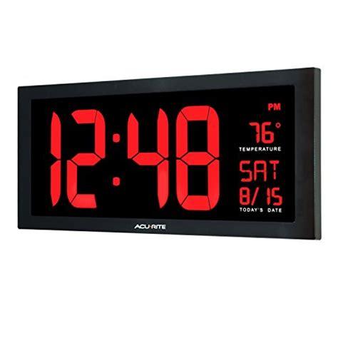 oversized led clock acurite 75100 large digital clock with indoor temperature