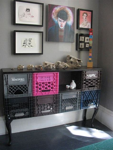 Milk Crate Furniture by 5 Milk Crate To Cabinet Makeovers