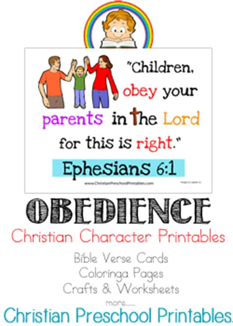free character printables obedience free homeschool deals