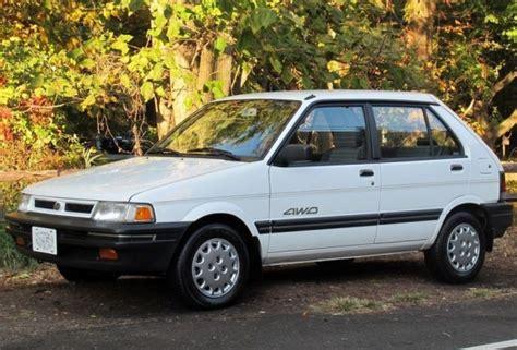 subaru hatchback 1990 85k mile 1990 subaru justy awd bring a trailer