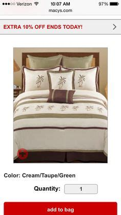 Montego Bay Comforter Set by 7pc Hawaii Embroidery Palm Tree Faux Silk Comforter King