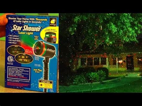 solar galaxy laser light shower laser lights review test footage