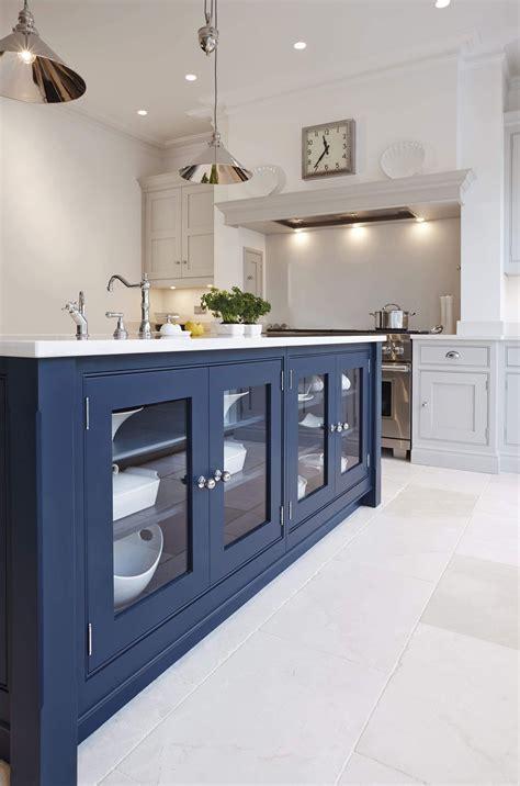 blue painted kitchen   blue kitchen designs blue