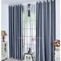 Gray Blue Curtains Designs Navy Blue And Gray Striped Pattern Thick Suede Modern Curtain