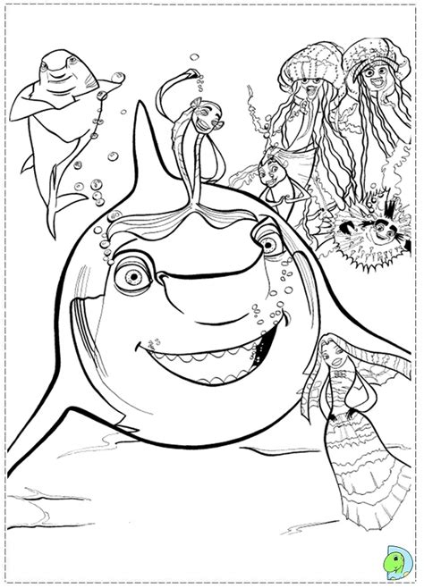 Shark Tale Coloring Az Coloring Pages Shark Tale Coloring Pages