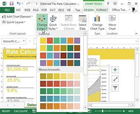 deferred tax rate calculator for excel