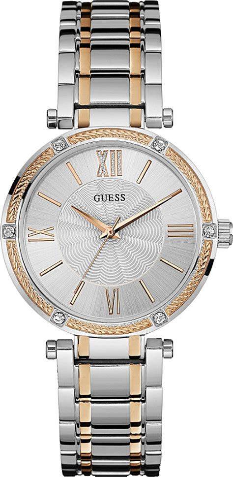 Guess Stainles Gold 1 guess w0636l1 park ave stainless steel and gold plated s silver for lyst