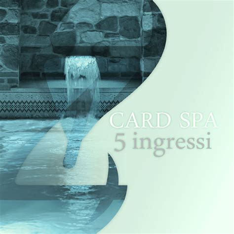 ingresso spa card spa 5 ingressi spa h14 fitness wellness
