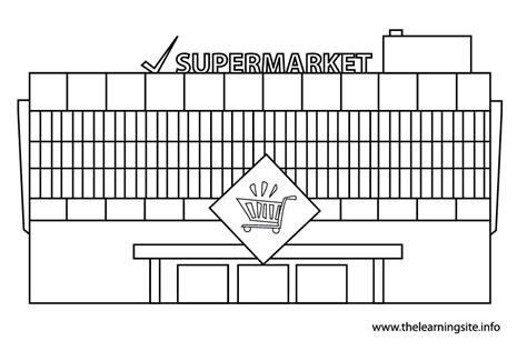 free coloring pages of market
