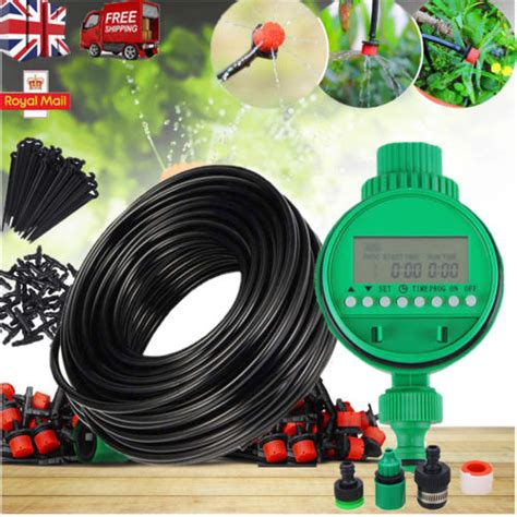 automatic drip irrigation system kit plant timer