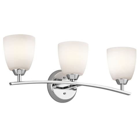 6 bulb bathroom light fixture kichler 45360ch chrome granby 24 91 quot wide 3 bulb bathroom