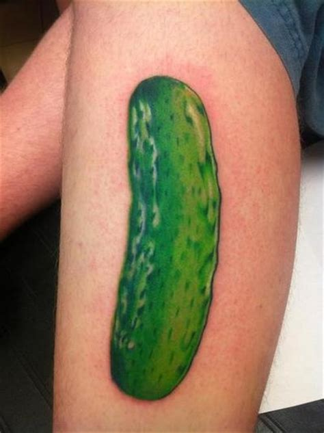 pickle tattoo pickle bit much aye hahaha